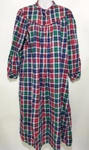 Lanz of Salzburg Womens M Red Blue Green Plaid ... - $43.61