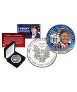 "DONALD TRUMP FOR PRESIDENT 2016  ""1"" OZ PURE SILVER EAGLE DOLLAR! BOX & ... - $69.99"
