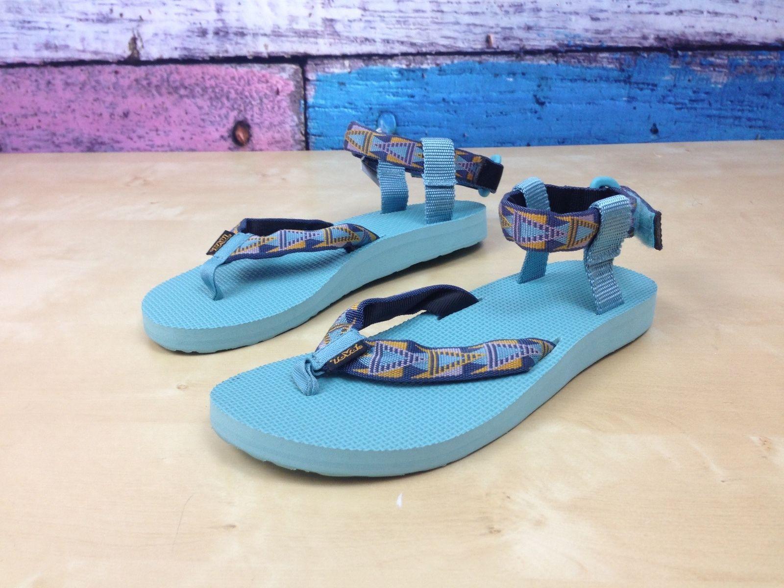 Teva Artist Series Universal Sandal Blue Multi-color Straps Women's Size 10