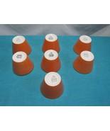 Lot of 7 Shenango China USA Soup Dessert Cup Crock Lip Butterscotch/Orange - $24.82