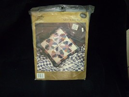 New Old Stock Something Special Needlepoint Kit Quilted Hearts Pillow 30774 Rare - $15.60