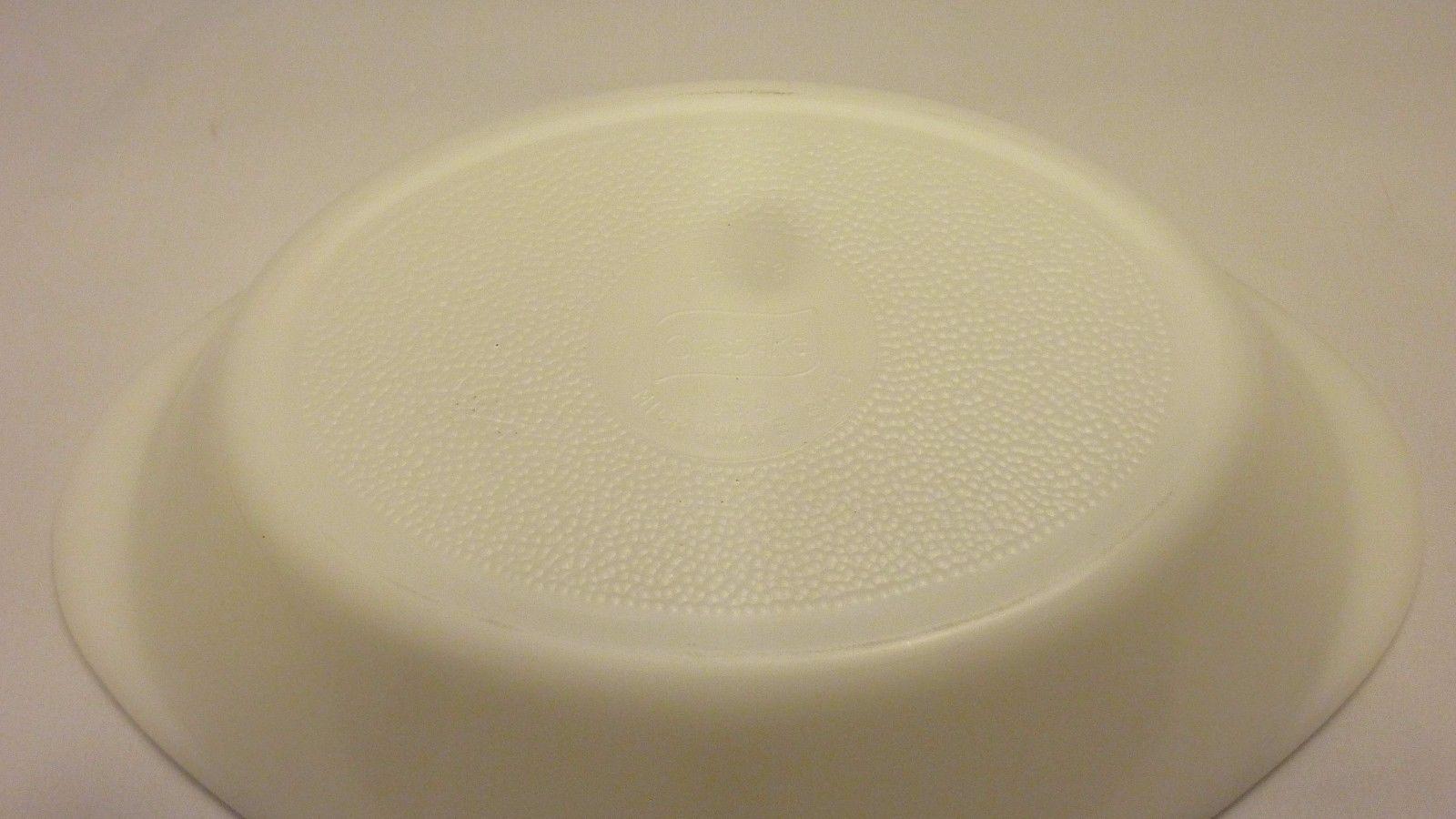 Vintage Made in USA Glasbake J2352 Milk White with Divider