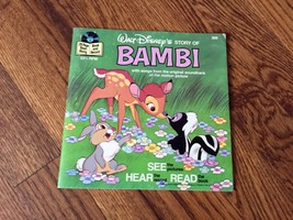 Bambi Walt Disney See Hear Read Book and Record 1976  #309  - $18.69