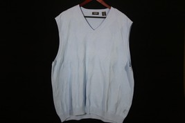 Izod Golf XXL Light Blue Sweater Vest Made of Cotton - $21.00