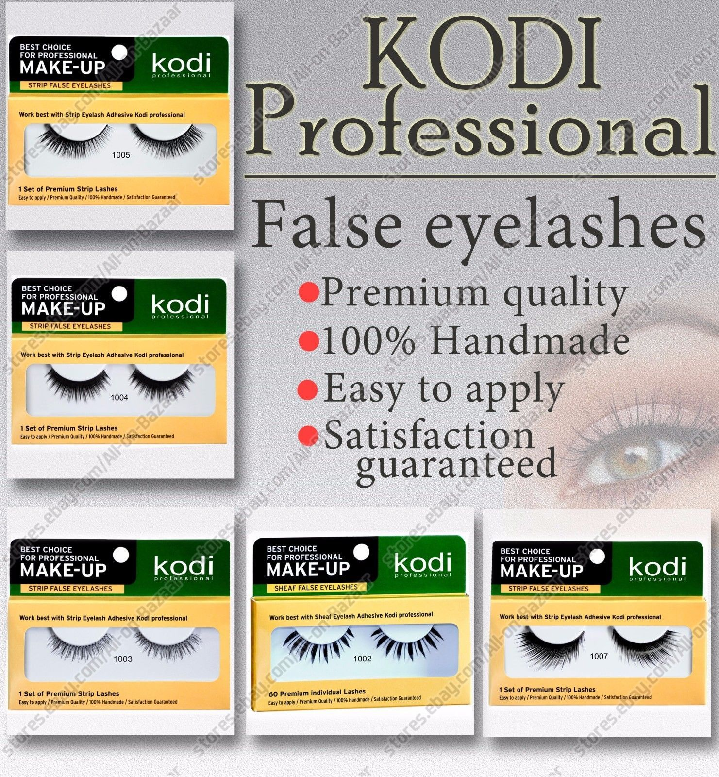 Primary image for Kodi - Premium FALSE EYELASHES Makeup Tools