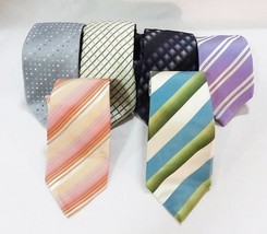 Van heusen mens neck ties woven executive stripped square polka dot set ... - $26.72