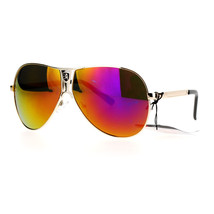 Khan Aviator Sunglasses Unisex Fashion Metal Racer Aviators UV 400 - $8.05