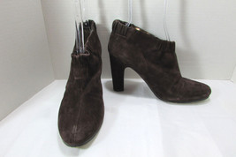 Sam Edelman Brown Suede Leather High Heel Ankle Boots Size US 9 M - $79.19