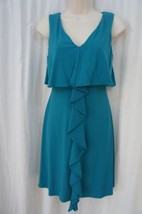 Jessica Simpson Dress Sz 12 Teal Tidepool Sleeveless Casual Business Coc... - $69.26