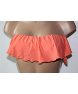 NEW O'Neill Juniors' CRL Coral Ruffle Bandeau Solid Swimwear Bikini Top ... - $10.68