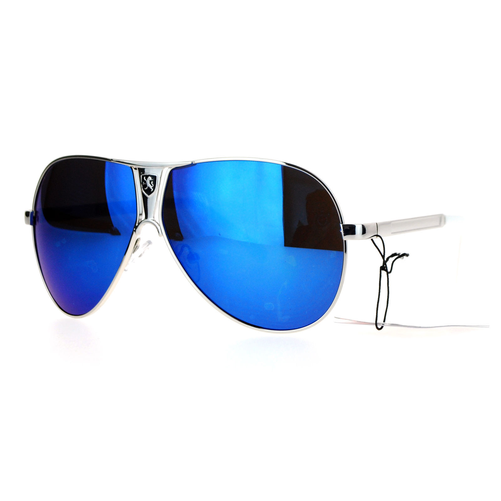 Khan Aviator Sunglasses Unisex Fashion Metal Racer Aviators UV 400