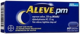 Aleve PM Overnight Pain Relief and Sleep Aid 80 Caplets Bottle - $20.74