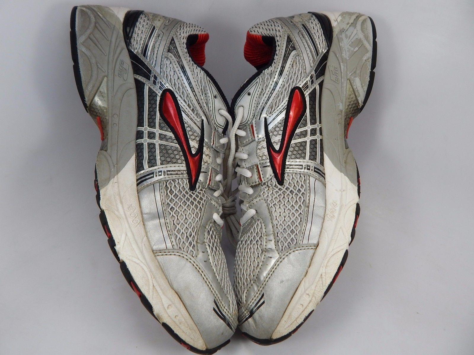 Brooks GTS 11 Men's Running Shoes Size US 13 M (D) EU 47.5 Silver Red