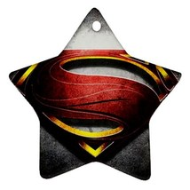 Star Ornaments - Superhero Superman Star Procelain Ornaments Christmas  - $3.99