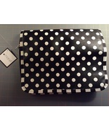 Macy's overnight makeup toiletries bag Black and White striped & polka d... - $10.00