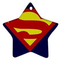 Star Ornaments - Superhero Superman Star Procelain Ornaments Christmas  - $3.99
