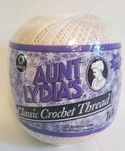 Aunt Lydias Classic Crochet Thread 10 NATURAL 100% Cotton 1.5 mm 7 1000 ... - $9.74