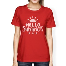 Hello Summer Sun Womens Red Shirt - $14.99