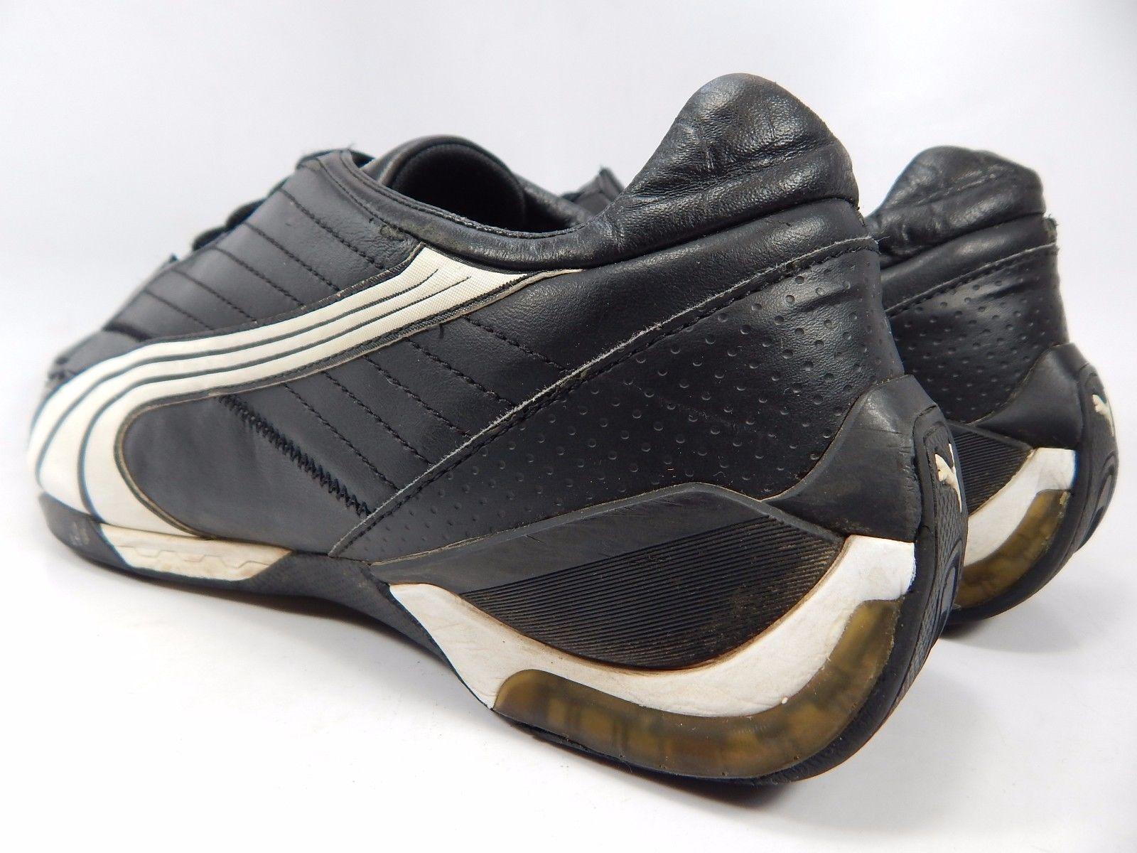 Puma Kart Cat II 2 Men's Leather Driving Shoes Size US 12 M (D) EU 46 Black