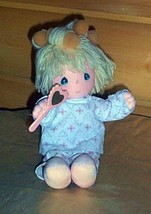 Precious Moments Plush Musical Wind-Up Pretty Sylvie in PJs & Foam Hair ... - $8.69