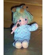 Precious Moments Plush Musical Wind-Up Pretty Sylvie in PJs & Foam Hair ... - $8.69