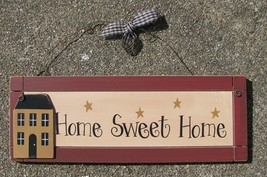 wp2014 home sweet home primitive wood Sign  - $7.95
