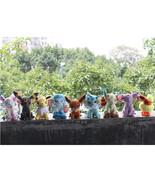 Hot japan 9pcs lot pokemon plush toy pokemon eevee family movies tv plush toy doll 9 thumbtall