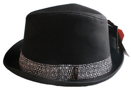UGP Under Ground Products Grems Mens Black and White Ska Fedora Hat NWT image 2