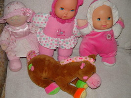 Baby First Rattle Baby Doll, Kids Preferred Doll Set 3 Baby Dolls & A Giraffe image 3