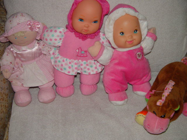 Baby First Rattle Baby Doll, Kids Preferred Doll Set 3 Baby Dolls & A Giraffe image 4