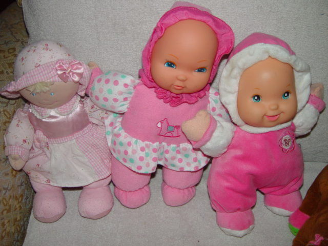 Baby First Rattle Baby Doll, Kids Preferred Doll Set 3 Baby Dolls & A Giraffe image 5