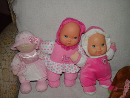 Baby First Rattle Baby Doll, Kids Preferred Doll Set 3 Baby Dolls & A Giraffe image 6