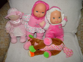 Baby First Rattle Baby Doll, Kids Preferred Doll Set 3 Baby Dolls & A Giraffe image 7