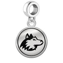 Northern Illinois Huskies Silver Round Border Dangle Charm - $49.00