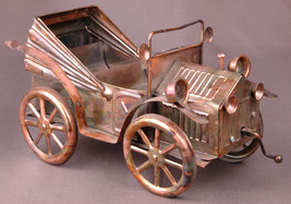 Music Box-Car, Horseless Carriage-Copper Metal w Movement Vintage-RARE-S... - $28.04