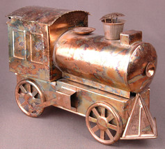 Sankyo Music Box-Train Engine-Copper Metal w Movement Vintage-Rare-Work ... - $28.04