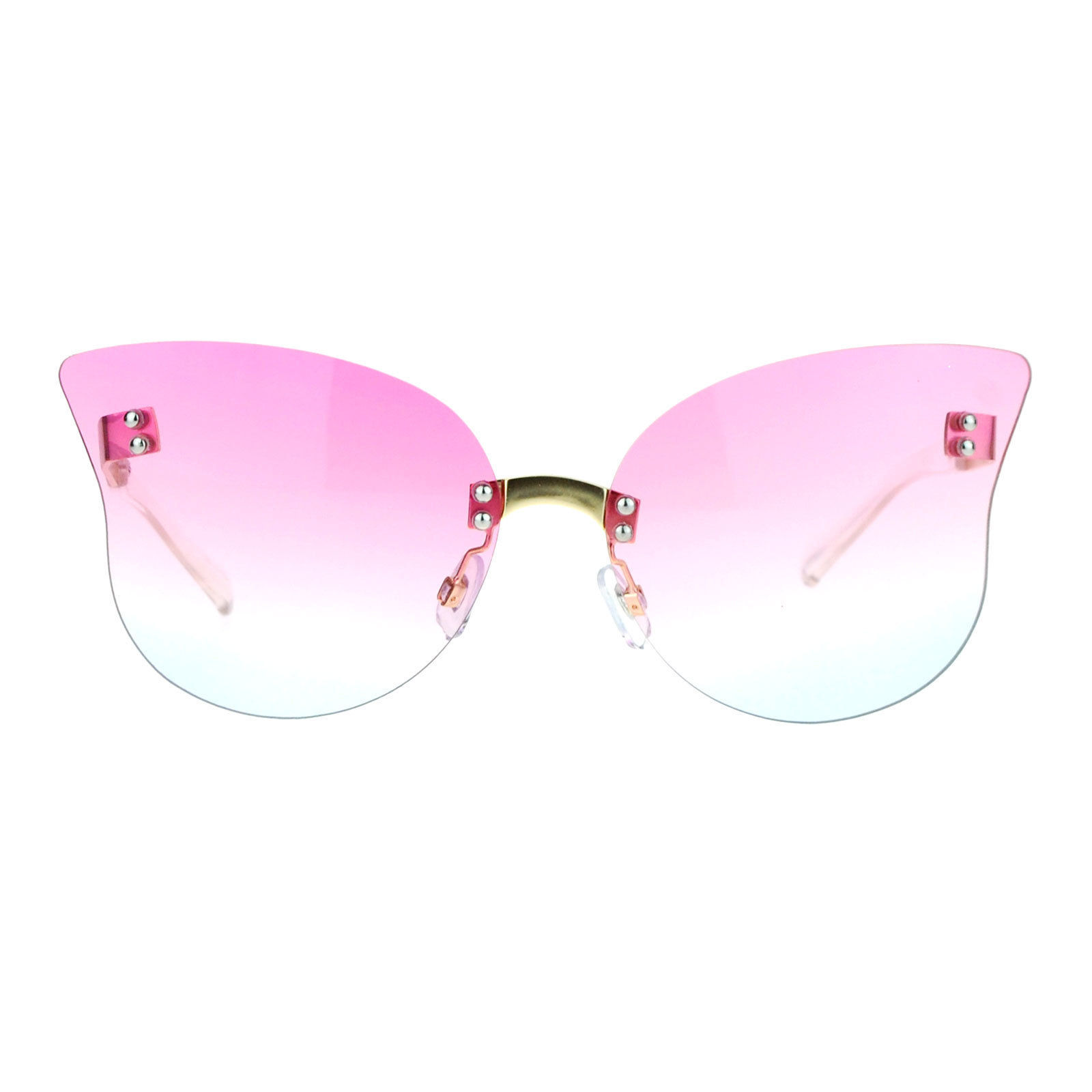 Rimless Butterfly Glasses : Womens Rimless Butterfly Sunglasses Beautiful Ombre ...
