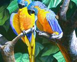 Blue throated macaws cross stitch pattern thumb155 crop