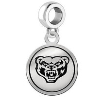 Oakland Golden Grizzlies Silver Round Border Dangle Charm - $49.00