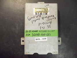 86 87 88 89 Honda Accord 2.0 L M/T Ecm 36048 Ph4683 (See Details) Box 3250 - $75.72
