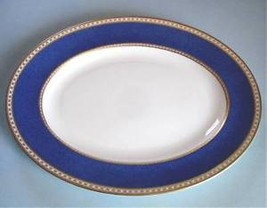 "Wedgwood ULANDER POWDER BLUE Oval Serving Platter 14"" Made in England New - $139.90"