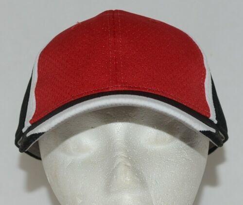Augusta Sportswear Six Panel Red Black White Hook Loop Adjustable 6290 Adult