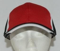 Augusta Sportswear Six Panel Red Black White Hook Loop Adjustable 6290 Adult image 1