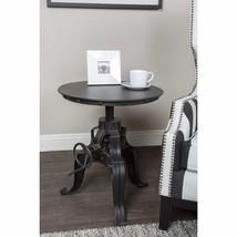 Industrial Crank Table Round Iron End Accent Adjustable Vintage Furnitur... - €526,72 EUR