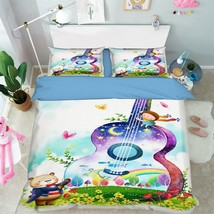 3D Kid Guitar 18 Bed Pillowcases Quilt Duvet Cover Set Single Queen King Size AU - $64.32+