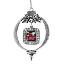 Inspired Silver I Love My Family Classic Holiday Decoration Christmas Tree Ornam - $14.69