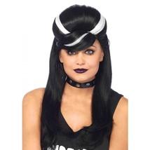 Leg Avenue Women's Frankie Bouffant Wig Black/White One Size - $27.92