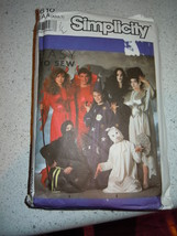 1989 Simplicity Adult Boys & Girls Costumes Size AA  Pattern  0610 - $7.99