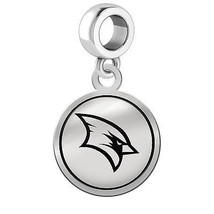 Saginaw Valley State Cardinals Silver Round Border Dangle Charm - $49.00