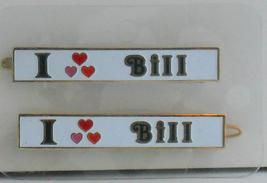 "VTG. PERSONALIZED NAME BARRETTE  ""I LOVE BILL"" ... - $6.95"
